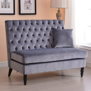 Ellayne Tufted High Back Loveseat by Darby Home Co