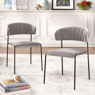 Caistor Upholstered Dining Chair (Set of 2) Wrought Studio
