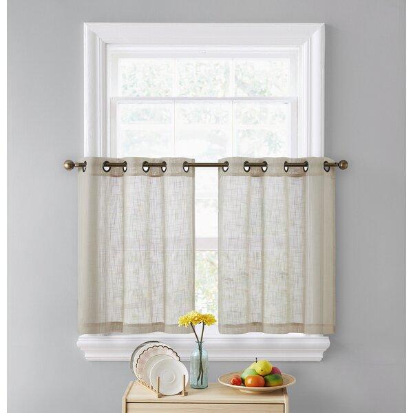 White Sheer Cafe Curtains Wayfair