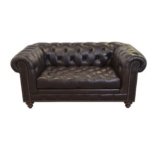 Westland and Birch Cambridge Leather Chesterfield Sofa