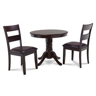 Alcott Hill Cedarville 3 Piece Cappuccino Dining Set