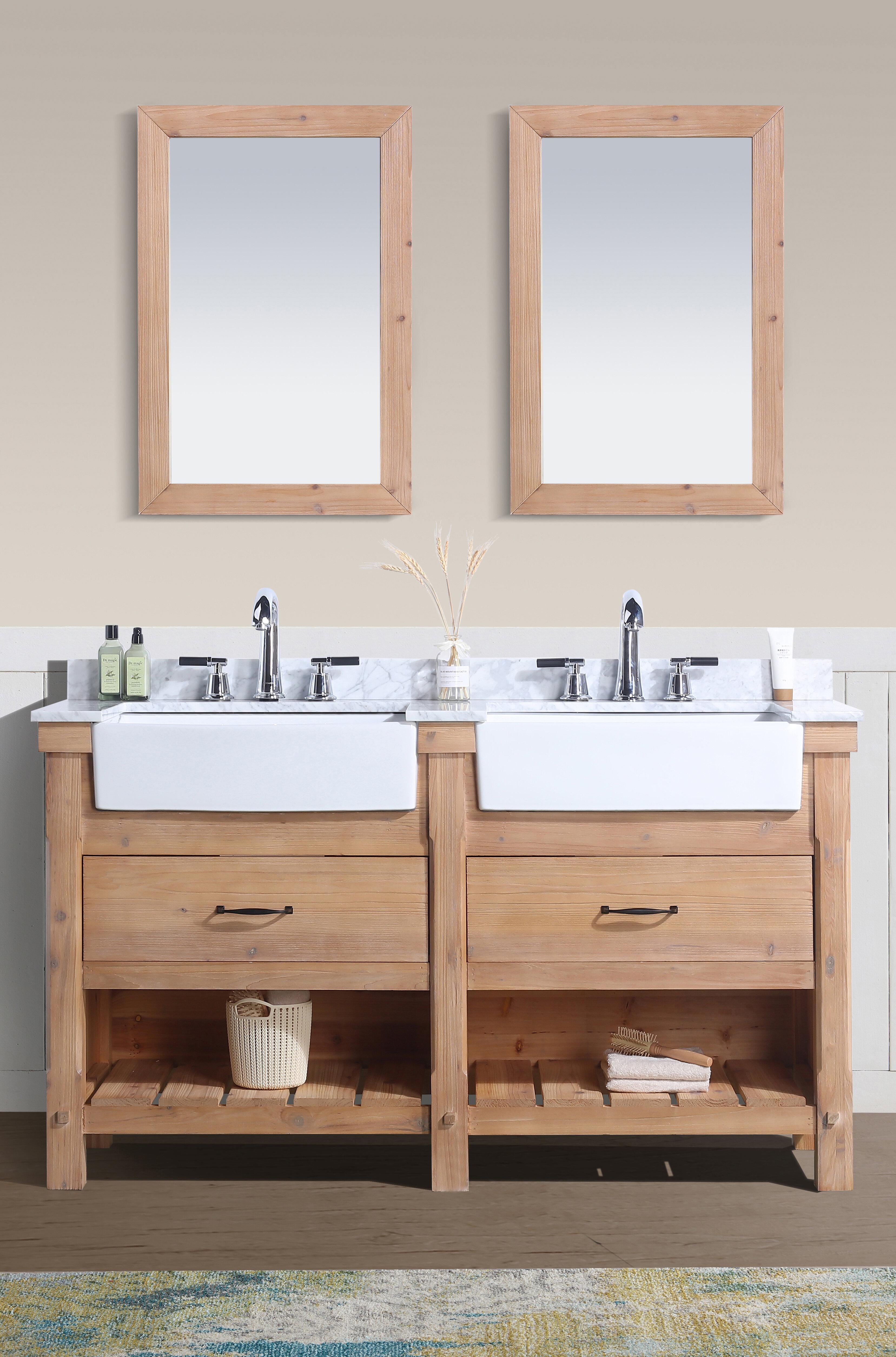 Double Light Wood Bathroom Vanities You Ll Love In 2021 Wayfair