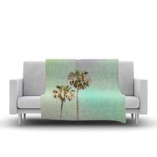 Affordable Sylvia Coomes Palm Trees Multicolor Photography Fleece Blanket ByEast Urban Home