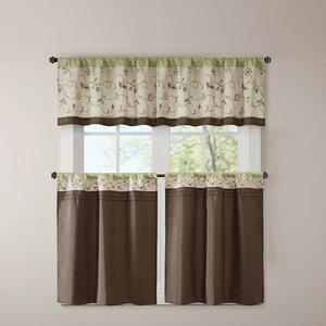 Brierwood Embroidered Kitchen Tier Curtain