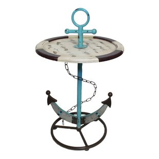 Price Check Brungardt Wood and Metal Anchor End Table By Longshore Tides