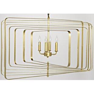Noir Dimaclema 4-Light Square/Rectangle Chandelier