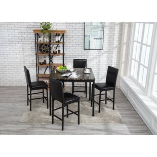 Andreana Counter Height Dining Set (Set Of 5)