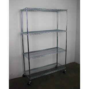 4-Tier Wire Shelving Unit with Wheels