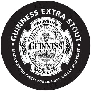 Guinness Wood Swivel Bar Stool Trademark Global