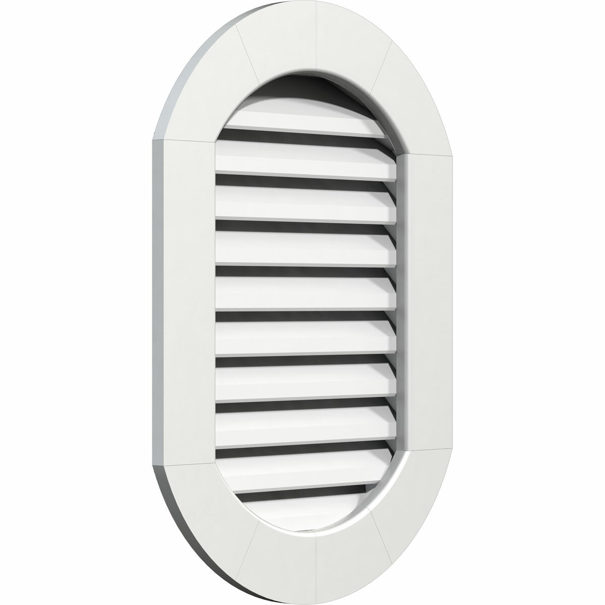 Ekena Millwork Pvc Vertical Round Ended Gable Vent With Flat Trim Frame In White Wayfair