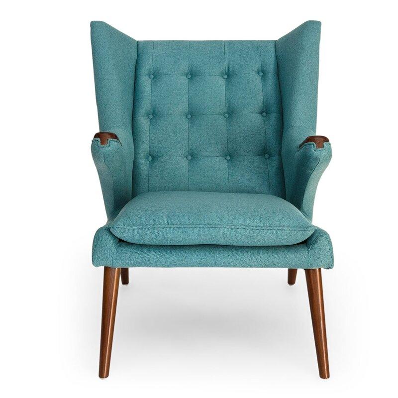 Beau Bear Wegner Papa Wingback Chair And Ottoman
