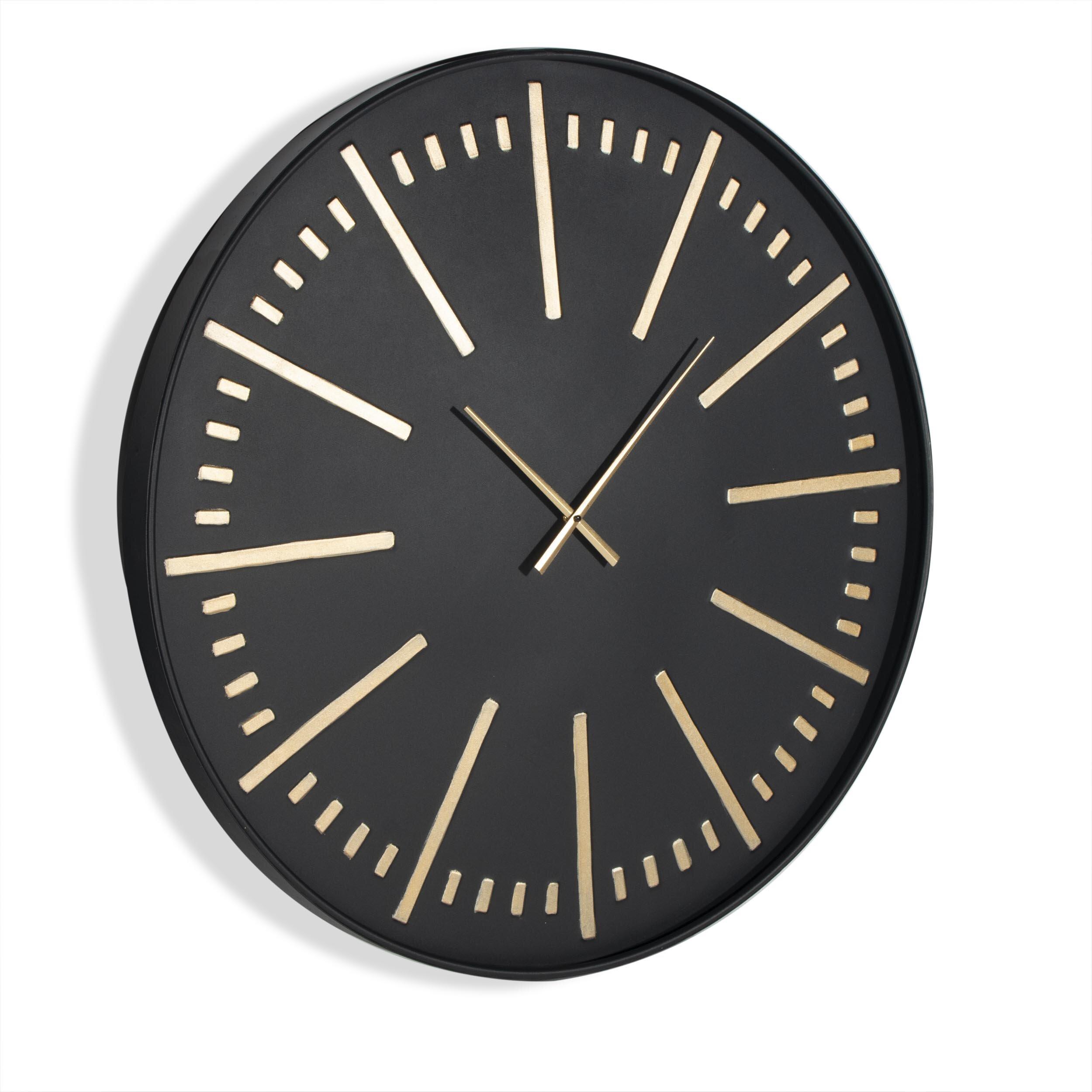 Everly Quinn Oversized Auberon 36 Wall Clock Wayfair