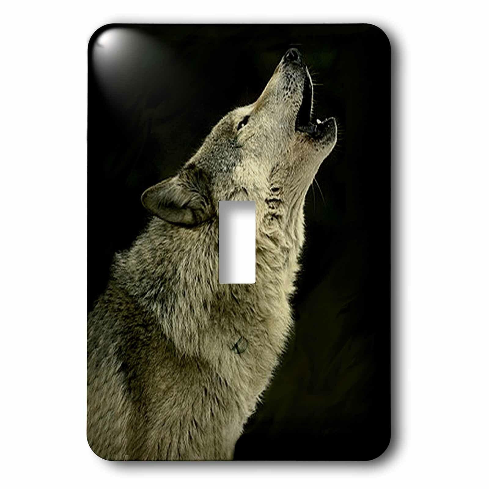 3drose Timber Wolf 1 Gang Toggle Light Switch Wall Plate Wayfair