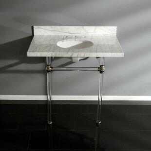 Budget Templeton Carrara Marble Rectangular Undermount Bathroom Sink with Overflow ByKingston Brass
