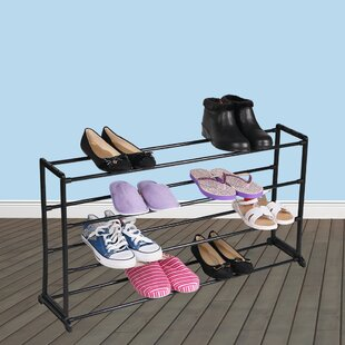 Great choice Plastic/Metal 20 Pair Shoe Storage Cabinet By Home Basics