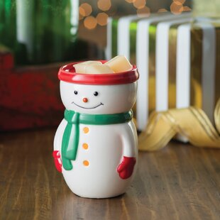Snowman Illumination Fragrance Ceramic Wax Warmer