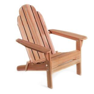 Western Red Cedar Solid Wood Folding Adirondack Chair by All Things Cedar