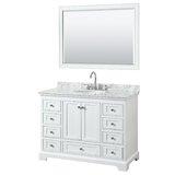 Deborah 48 Single Bathroom Vanity Set with Mirror by Wyndham Collection