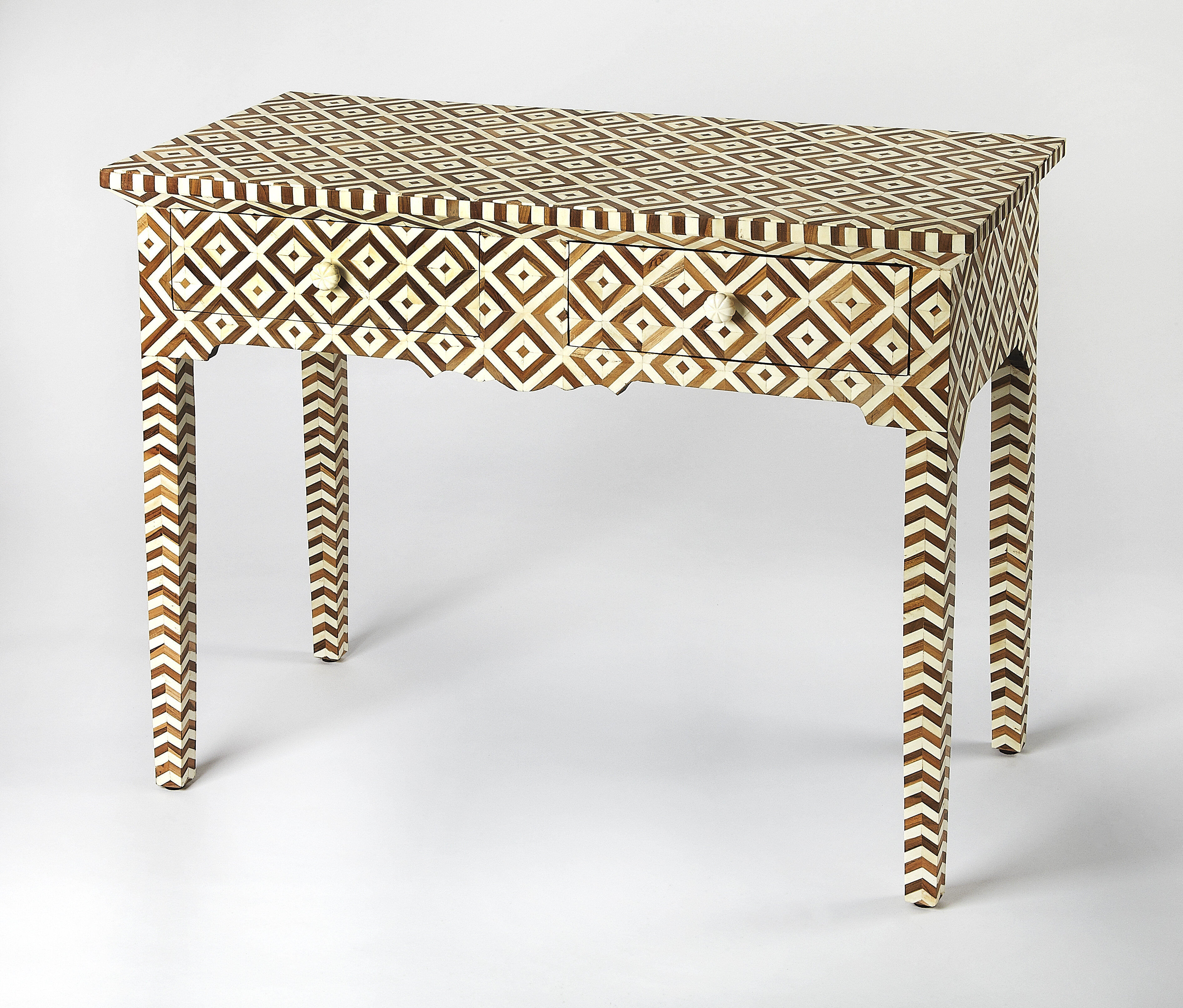 f3669b885a81d Bloomsbury Market Aubriella Wood and Bone Inlay Console Table