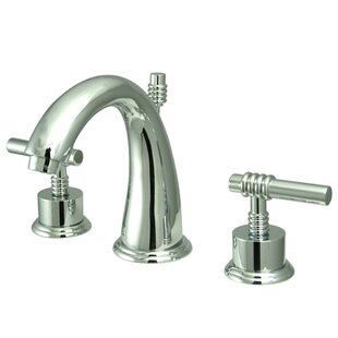 Kingston Brass Milano Widespread Bathroom Sink Faucet with Brass Pop-up