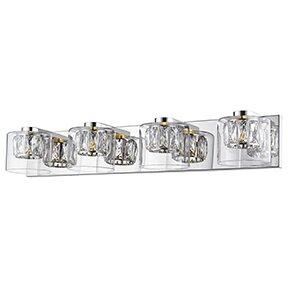 Top Reviews Ararinda Crystal 4-Light Vanity Light By House of Hampton