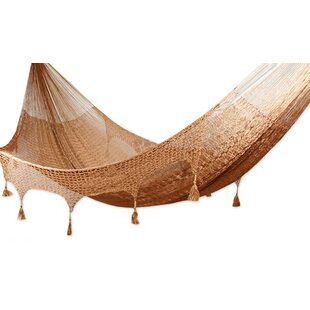 Novica Triple Person Copper Filigree Tree Hammock
