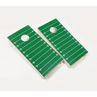 10 Piece Football Field Tabletop Cornhole Set by AJJ Cornhole