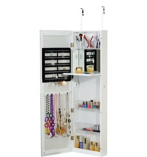 Affordable Over the Door Jewelry Armoire with Mirror By Famis Corp