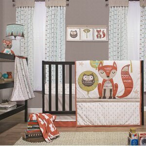 Clever Fox 4 Piece Crib Bedding Set