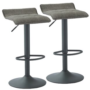 Ebern Designs Ean Adjustable Height Swivel Bar Stool (Set of 2)
