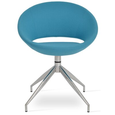 Crescent Spider Chair Sohoconcept Upholstery Color Turquoise