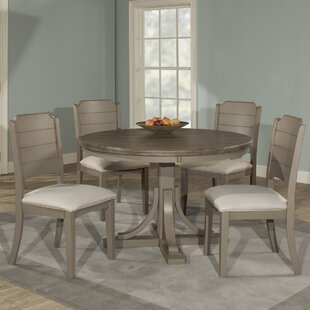 Kinsey 5 Piece Wire Brushed Dining Set Rosecliff Heights