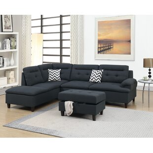 Cravens Sectional with Ottoman by Ebern Designs