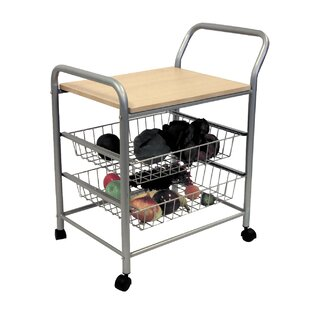 Chantay Kitchen Cart with Wood Top by Ebern Designs