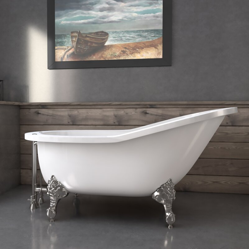 Cambridge Plumbing 61 X 30 Clawfoot Soaking Bathtub Wayfair