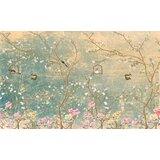 Hartung Floral on Grunge Peel and Stick Wall Mural (Set of 100)