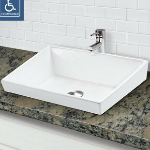 DECOLAV Brier Classically Redefined Vitreous China Rectangular Vessel Bathroom Sink