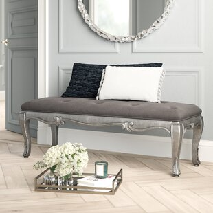 Holmes upholstered Bench by House of Hampton