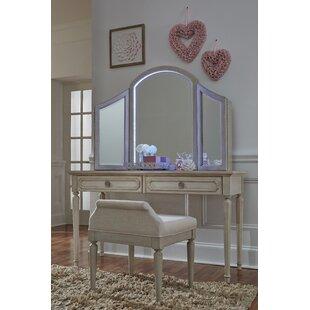 One Allium Way Alaina Vanity Set with Mirror