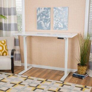 Latitude Run Benson Height Adjustable Standing Desk with Dual Motors