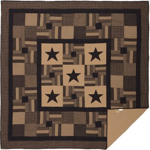 Person Single Reversible Raven Primitive Check Star Quilt