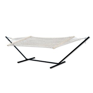 Czajkowski Cotton Rope Camping Hammock with Stand by Red Barrel Studio