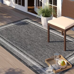 Denning Black Indoor/Outdoor Area Rug