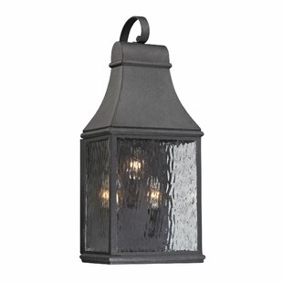 Compare prices Negron 3-Light Outdoor Wall Lantern By August Grove