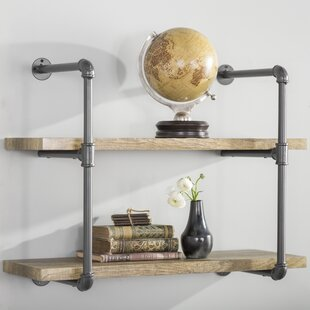 Ahren 2 Industrial Pipe Wall Shelf