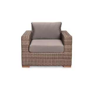 Holcomb Teak Patio Chair with Sunbrella Cushions by Rosecliff Heights