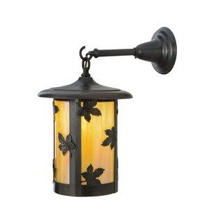 Top Reviews Fulton Maple Leaf 1-Light Outdoor Wall Lantern By Meyda Tiffany
