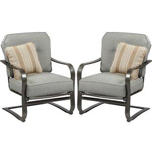Pinheiro C Spring Patio Chair with Sunbrella Cushion (Set of 2) by Canora Grey