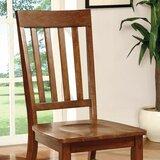 Gerard Slat Back Side Chair in Dark Oak (Set of 2) by Alcott Hill®