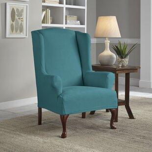 Serta® Stretch Fit Box Cushion Wingback Slipcover By Serta
